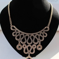 Fashion jewelry set for women 2015 Hot Wholesale Women fashion product vintage Snake Chain Necklace Earrings Set