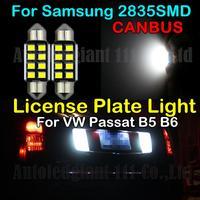 2x Error Free White C5W 36mm Led For Samsung 2835SMD License Plate Light For VW Passat B5 1997-2001 3C2 B5 2004-2006 B6 2006-