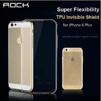 Original For iPhone 6 Plus 5.5 Rock High Quality Transparent Soft case super thin invisible phone case TPU Protective Case