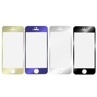 Color Front  Film Tempered glass Toughened Protective Explosion-proof Phone Screen Protector For Iphone 5 5s Worldwide