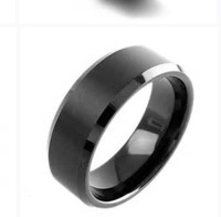 8mm tungsten rings, IP Black. middle flat brushed, two edges are polished  ,comfort fit,free shipment