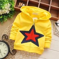 Free shipping 2015 Spring New pentagram cardigan jacket for children,baby boy sweatshirt,kid hoodies#KZ950C