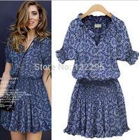 Summer Dress / Ladies European printing leisure wild European and American fashion dress / free shipping