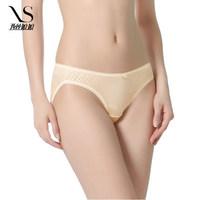 She's silk silk underwear 100% silk thin section of the low waist briefs women 3008