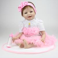 Wholesale 22 Inch Silicone Vinyl Baby Reborn Dolls adora chucky Handmade Kids  Princess Toys Children bonecas bebe reborn doll