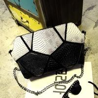 Bags 2015 women's fashion handbag for Crocodile patchwork handbag shoulder bag messenger bag color block small bags