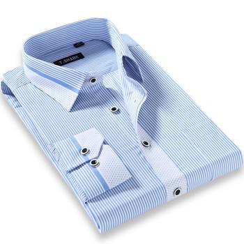 Новый 2015 высокое качество мужчин свободного покроя тонкой пригонки рубашки хлопка ...