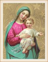 2015 New Wholesale DIY Diamond Paintings virgin hug Jesus Home Decoration Rhinestone Wall Stickers Embroidery Needlework 30x40cm
