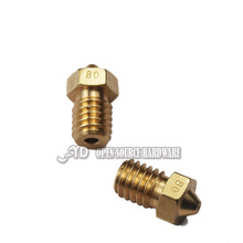 3d printer accessories 0.8*1.75mm copper nozzle consumables nozzle for upgraded DIY e3d v6
