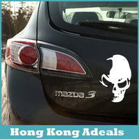 Hight Quality Fashion New 1PCS 12*8CM Cool Skull Car Stickers Creative Car Styling Car Decoration+FREE SHIPPING