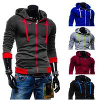 2015 New sweatshirt Men hoodies cardigan men casual hip hop sport slim sweatshirt outerwear moleton masculino sudaderas hombre
