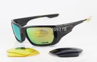 New Style Designer Sprots Sunglass Men/Women Brand Style Switch VR46 OO9194-09 Black Sunglass Fire Iridium Yellow Logo Polarized