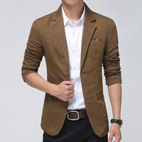 2015 spring fashion Man pure cotton slim fit business suit coat Men's leisure Blazers slim fit leisure coat jackets FreeShipping