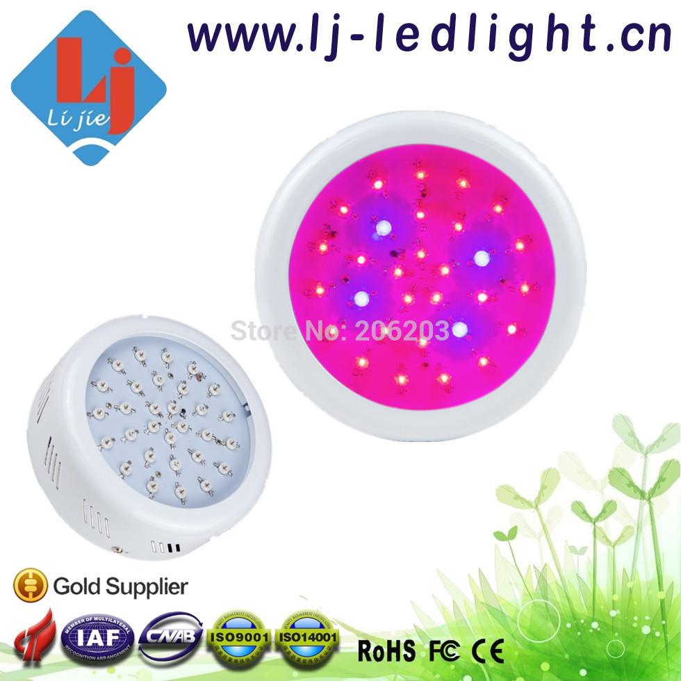 90 W UFO levou crescer Ligh 30 PCS 3 W Bridgelux Chips LED crescer espectro completo de luz para interior plantas jardim crescer sistema de hidroponia(China (Mainland))