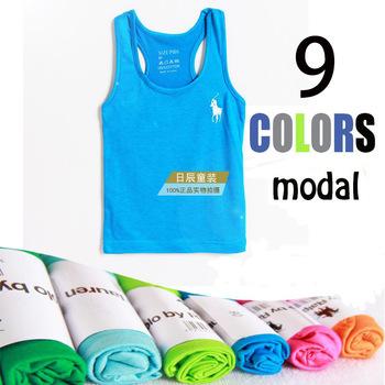 Дети бренд футболки 2015 лето 100% хлопок модальные дизайнер футболка девушка 2-6years мальчиков одежда ребенка жилет топ roupas meninos