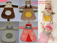 2015 New 4 colors Newborn Baby Sleeping Bags with Cap Infant Anti Tipi Cotton Baby Boy Girl Sleepsacks Fleebag Large 83CM