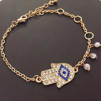 6pcs/lot  fashion women jewelry accessories evil eye hamsa hand bracelet