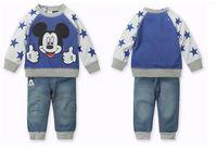 baby boys autumn cartoon suit sweatshirt +trousers kids clothes set children clothing sets XMZ045
