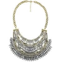 2015 NEW  fashion necklace collar Necklaces & Pendants trendy chunky chain choker wholesale bib statement pendant necklace