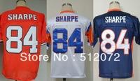 Denver #84 Shannon Sharpe Men's Authentic Throwback 1994 Team Orange/White 1997 Team Navy Football Jersey