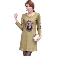 FS-3017 Spring Summer 2015 High Quality Women Dress Plus Size Vintage Dress 5XL
