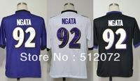 Baltimore #92 Haloti Ngata Men's Authentic Game Team Purple/White/Alternate Black Football Jersey