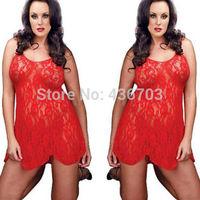 Sexy Women Intimate Sleepwear Ladies Lingerie Lace Dress G string Plus Size