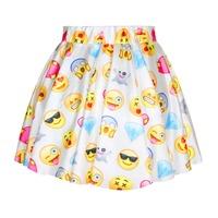 New Fashion Cute Style Emijo Skirt Print Girls Skirt For Summer