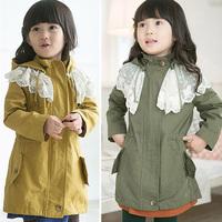 Fall Kids Baby Girl Long Sleeve Hoodie Coat Jacket Tulle Windbreaker Coat 2-7Y