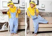 New Children Blanket Sleeper Despicable Me Minion Pajamas Cosplay Costume Animal Onesie For Kids Boy Girl Halloween Dress Party