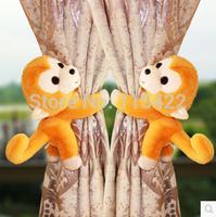 Cartoon monkey curtain buckle curtain strap home decoration curtain clip a pair of