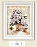 5D DIY Diamond painting crystal flower series 3D cross stitch pattern diamond embroidery Rhinestone painting Home Decor 30x40CM