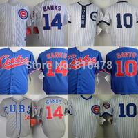2015 cheap men baseball jersey 14 Ernie Banks,10 Ron Santo Jersey Chicago Cubs Jerseys Embroidery Logo,sports jerseys