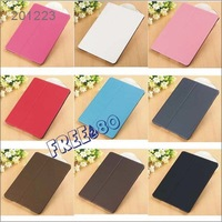Chic Textured Sand Pattern Smart Magnetic PU Leather Case Folding Stand Cover for iPad 5 /iPad Air