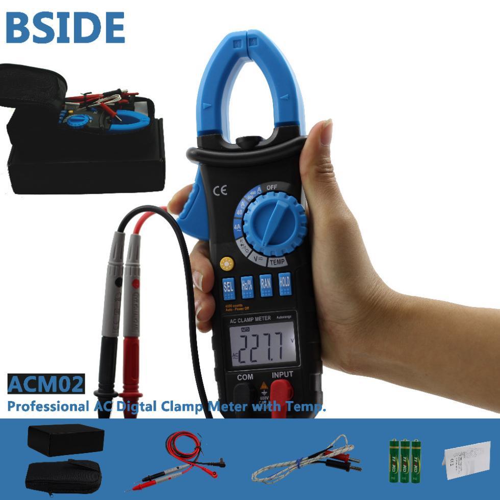 Professional ACM02 Digital Auto Range Clamp Meter AC/DC Voltage Current Resistance Tester(China (Mainland))