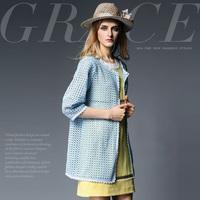 15012025 fashion high quality water-soluble flower cutout medium-long outerwear
