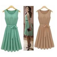free shipping imported clothing womens celebrity style high street feminine dresses women summer chiffon casual beach dress
