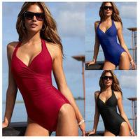 2015 New Sexy Women One Piece Swimwear Underwire Padded Swimsuit Bathing Suit Free Shipping 15023