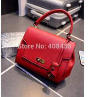 2015 Early spring metal buckle handbag simple shoulder bag designer fashion handle bags women messenger bag tote bag 0542A