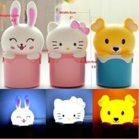 Mini Hello Kitty Lucky Rabbit Care Bear LED Cartoon Bedside Bedroom Sleeping Passageway Sensor Night Lights Light Lamp