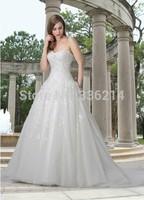 2015 Vestidos De Noiva Vintage Long Tulle Sweetheart Wedding Dresses Ball Gown Bride Dress Bridal Gowns
