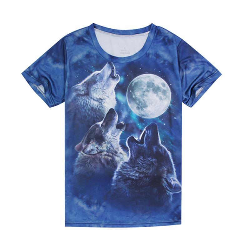 New Cheap Authentic Sports short Fashion cotton men's t-shirt men's short sleeve t shirt Summer O-Neck wolf t-shirt CC3014(China (Mainland))