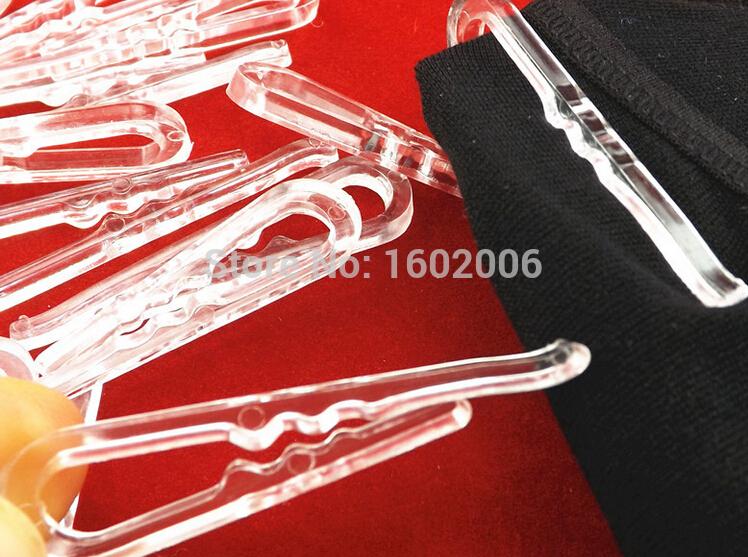 38mm plastic shirt clips transparent 600pcs/lot shirt pin garment packing sock package clips garment accessorieslesale(China (Mainland))