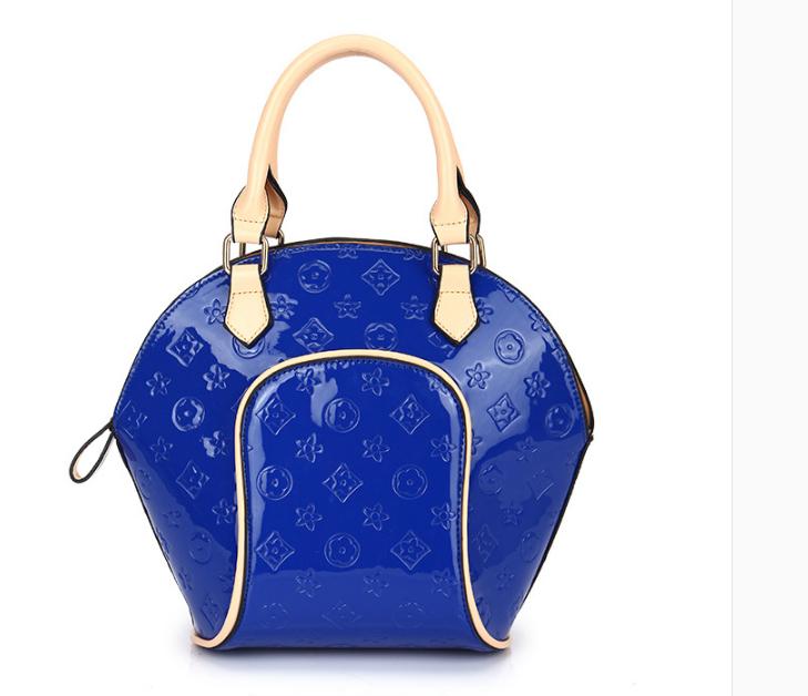 Designer Women Bag Shell Handbag Candy Color Bag Women Handbag Patent Leather Ladies Shoulder Bag 5 Colors Women's Hand Bags(China (Mainland))