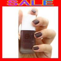 100pcs/lot Free Shipping BK Matte nail Fast dry BK Matte Nail Art Polish Lacquer Dull Vivid Color 12ml