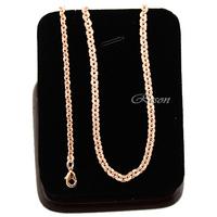 1pcs Men Womens Short Link Rolo Chains 18K Rose Gold Filled Necklaces Accessories E347