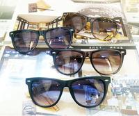 Wholesale Handmade High Quality Bamboo sunglasses Rivet retro wayfarer Oversized Tinted sun Glasses shades frames Black UV400