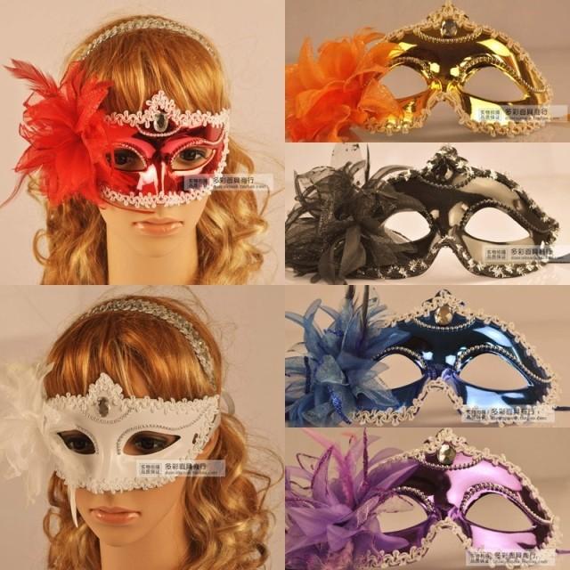 2015 Direct Selling Rushed Darth Vader Mask / Ms. Masquerade Masks Princess Side Flower(China (Mainland))