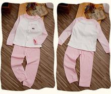 2015 new rrival high quality kids pajama sets boys girls clothinga sets organic cotton suits for spring autumn 1022(China (Mainland))