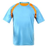 IKAI Hot Sale Men Short Sleeve T Shirt Outdoor Running Exercise Patchwork Short Men's Fitness Training Polyester Tees HMD0077-5